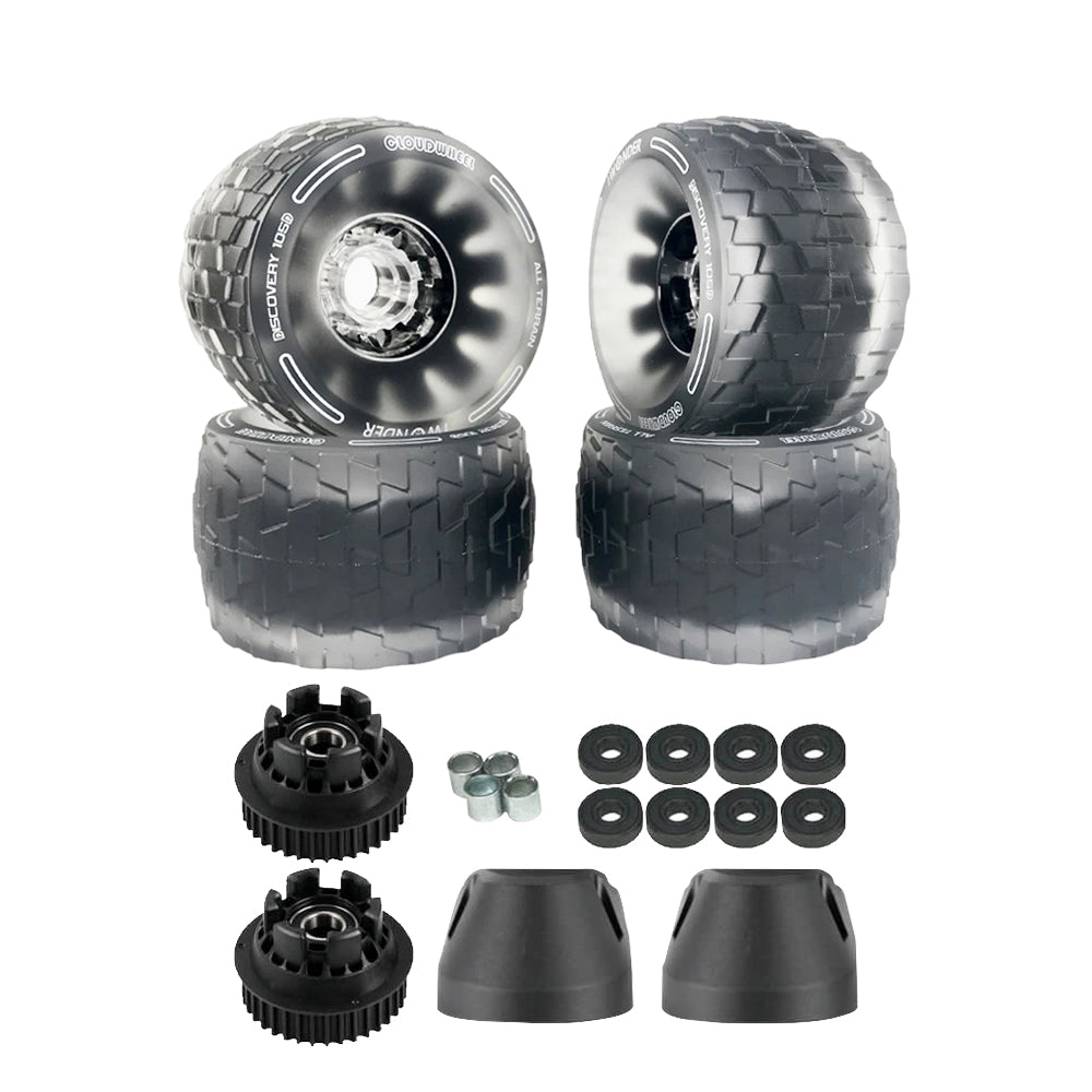 CLOUDWHEEL Discovery 120mm/105mm Urban All Terrain Off Road Electric Skateboard Wheels For Exway Boards Wheel Pulley Kit