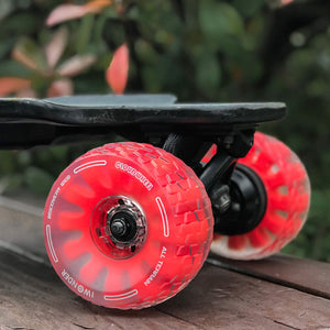CLOUDWHEEL Discovery 120mm/105mm Urban All Terrain Off Road Electric Skateboard Wheels For Slick Revolution Boards Wheel Pulley Kit