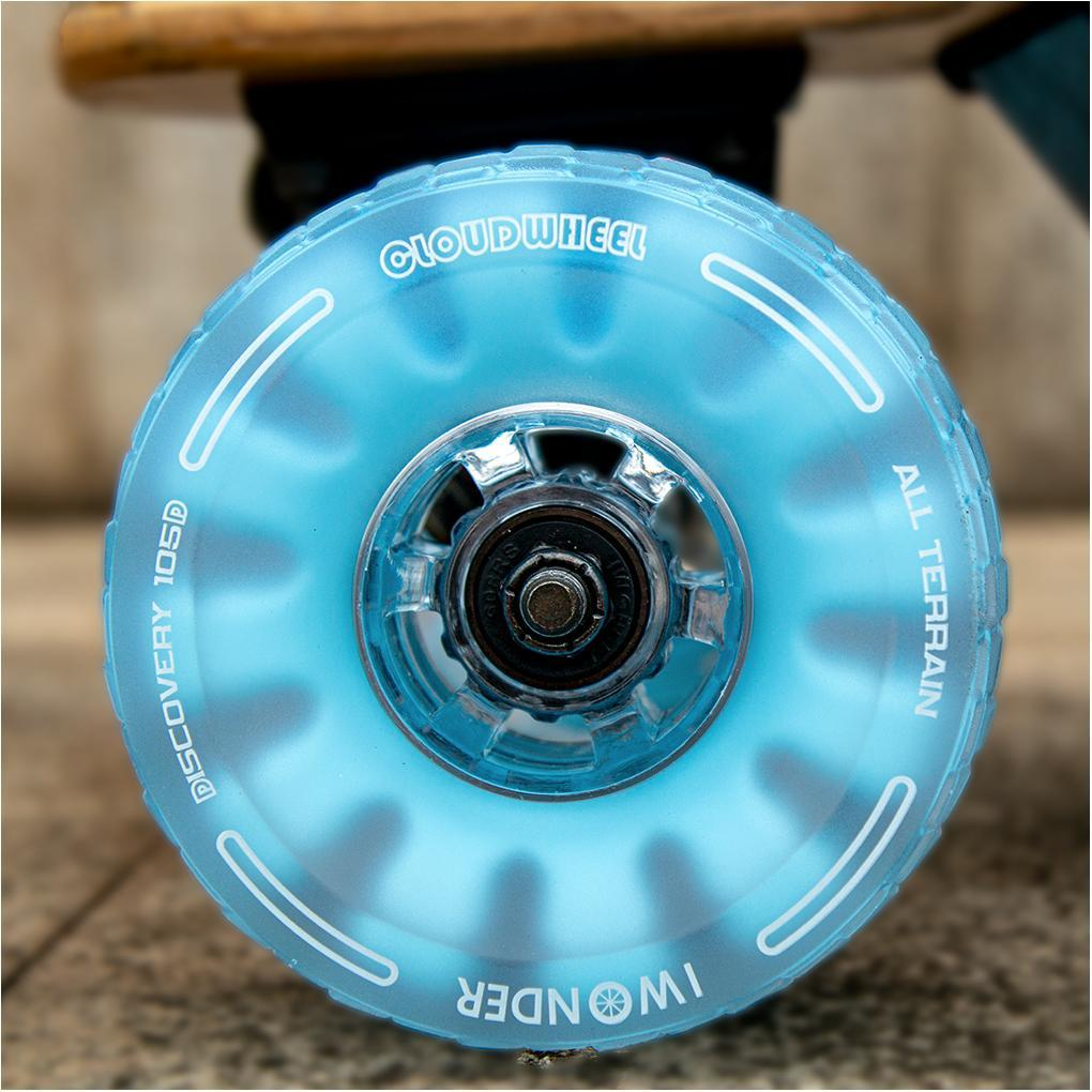 CLOUDWHEEL Discovery 120mm/105mm Urban All Terrain Off Road Electric Skateboard Wheels For Backfire Boards Wheel Pulley Kit