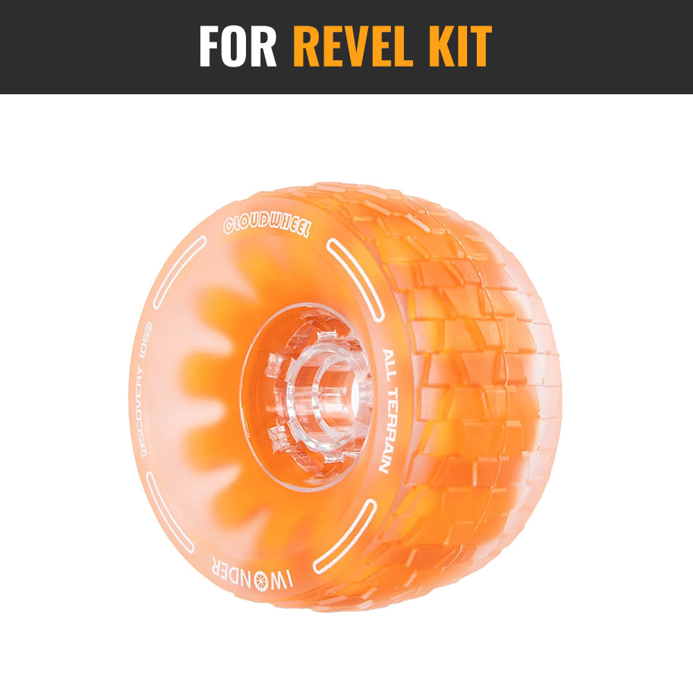 CLOUDWHEEL Discovery 120mm/105mm Urban All Terrain Off Road Electric Skateboard Wheels For Revel Kit Direct Drive Wheel Pulley Kit