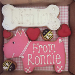 Dog N Bone Birthday Cookie Card - A Little Box of Joy