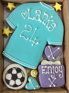 Football Shirt and Football Cookie Card (Small)