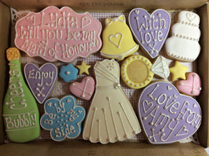 Will You Be My Bridesmaid / Maid of Honour Cookie box