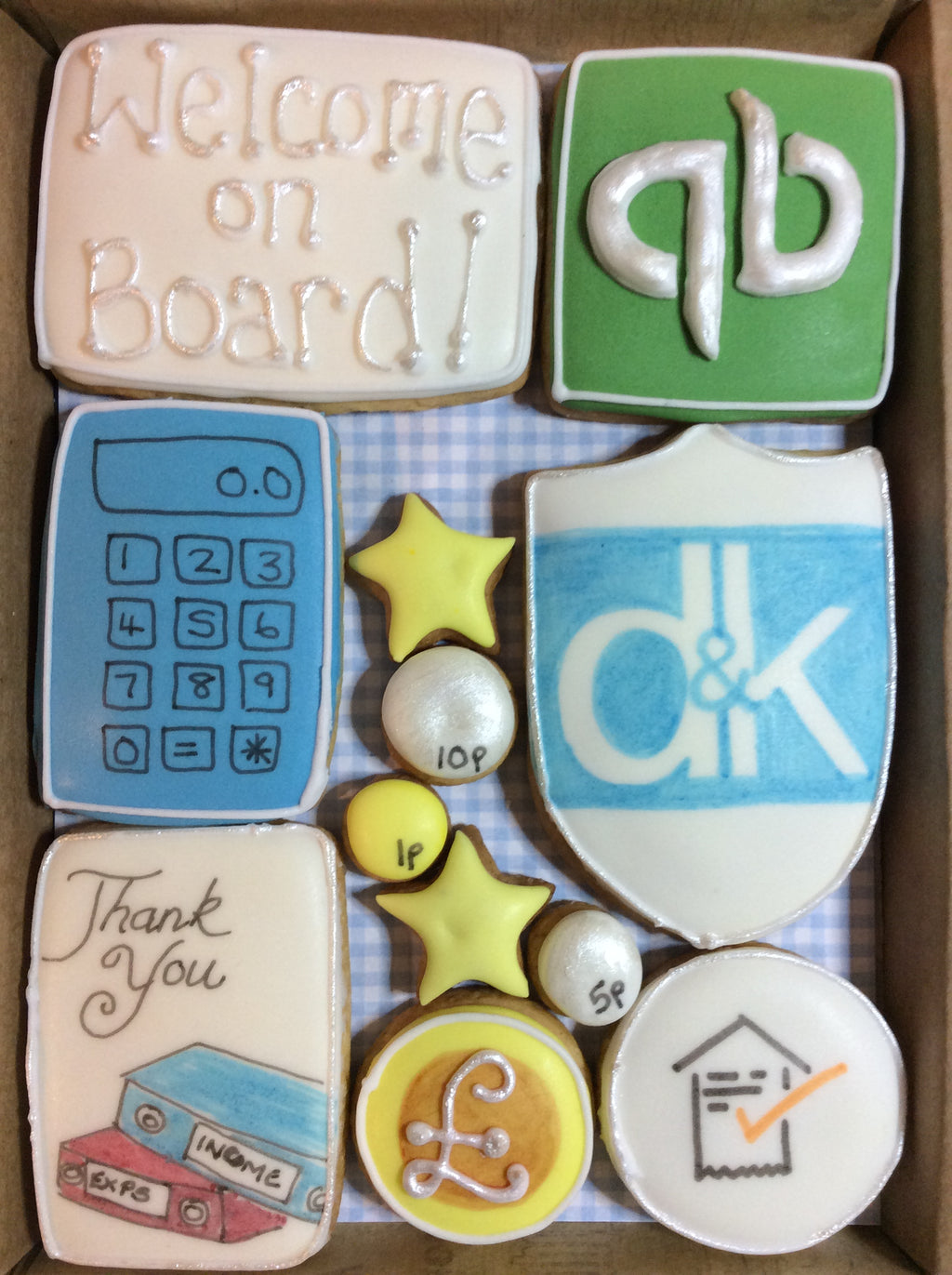 Welcome on board - Bespoke Corporate Cookie Box (Medium)