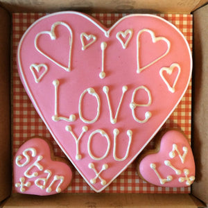 Valentines Day Love Heart Cookie Card