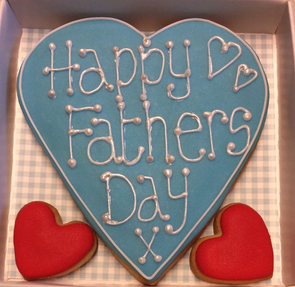 Love Heart Cookie Happy Fathers Day