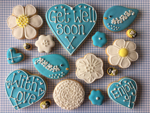 Flowers Cookie Box Blue (Large)