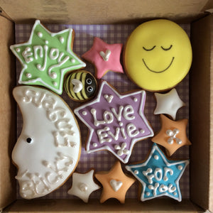 Little Box of Joy - Moon and Stars Cookie Box