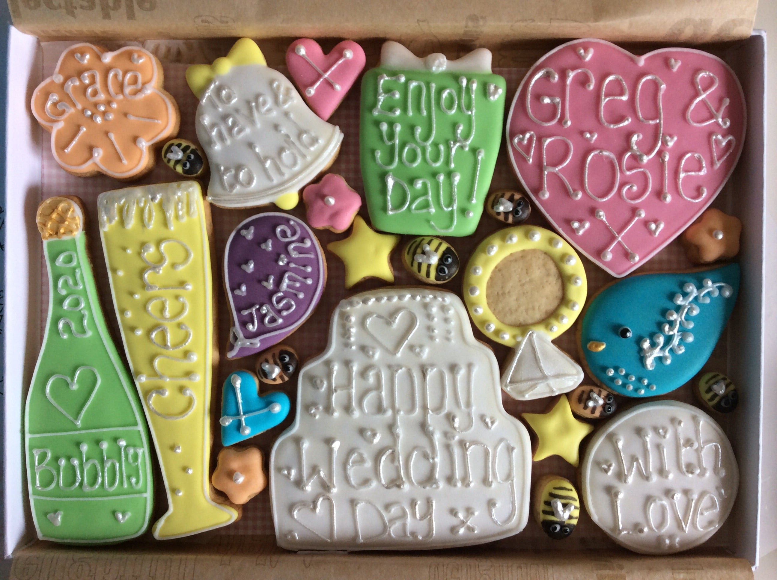 Wedding / Wedding Anniversary Cookie box (Large)