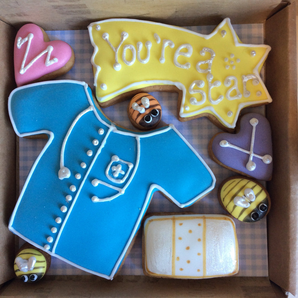 Dr, Nurse, Carer Thank You Cookie Box