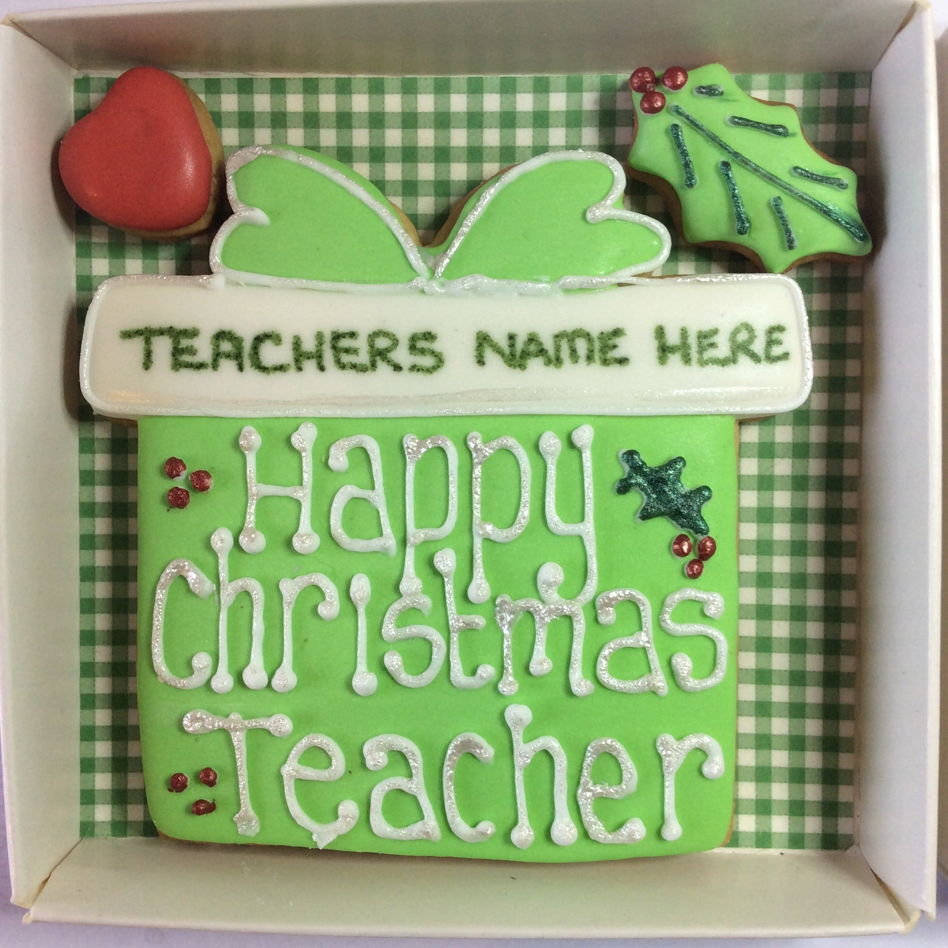 Christmas present cookie box for Teacher gift