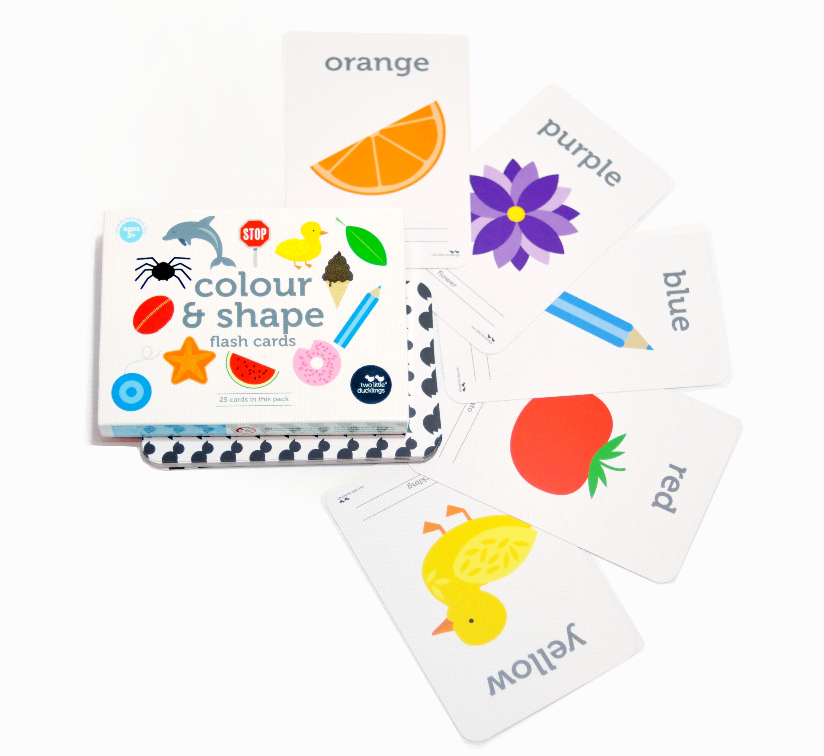 Colour and Shape Flash Cards for babies