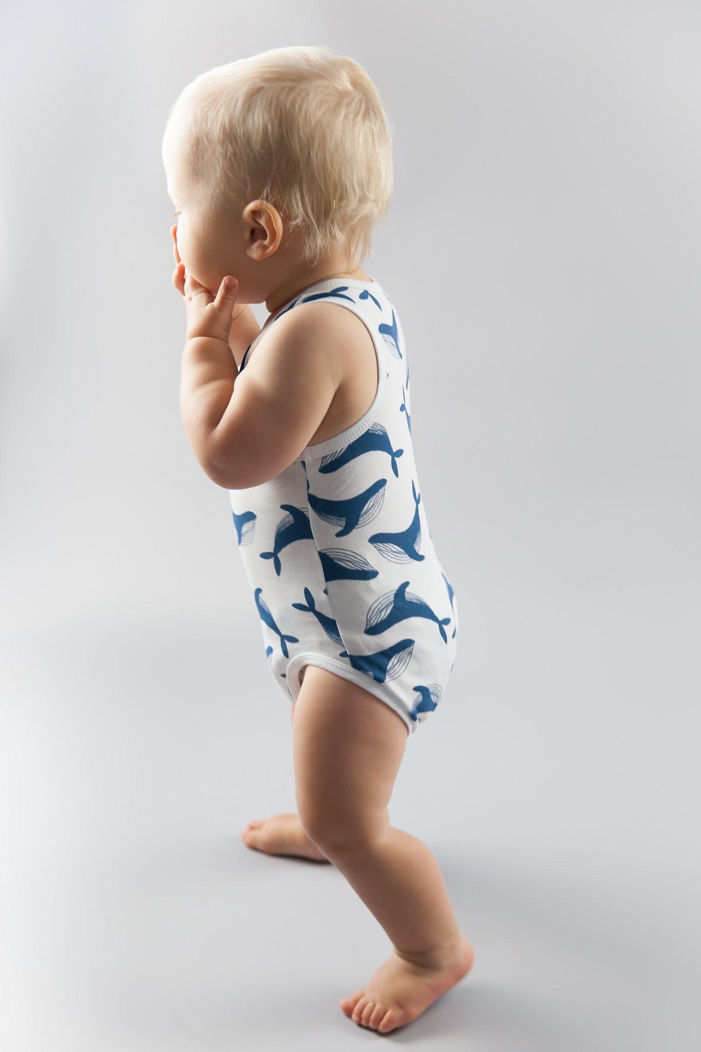 Singlet Bodysuit in Whale