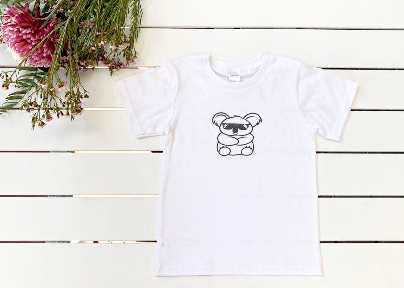 Organic Cotton T-shirt with Koala