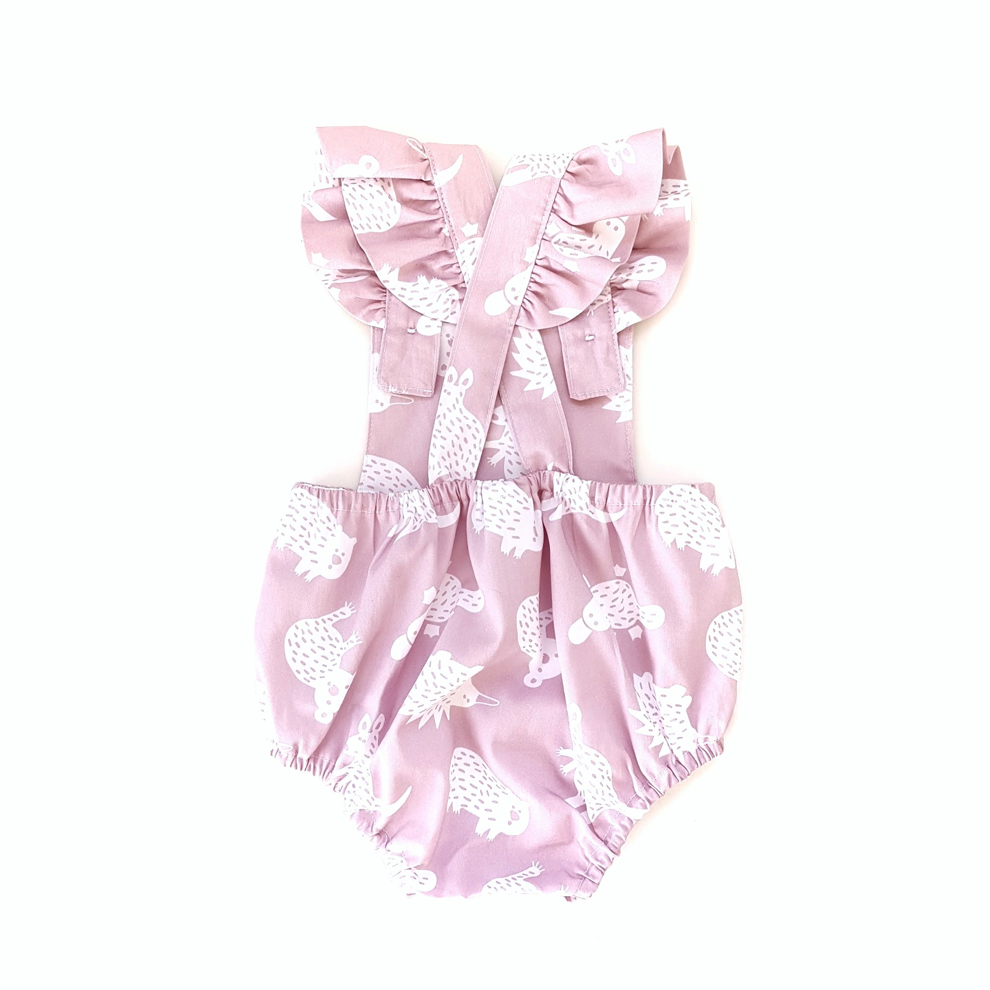 Little Aussie Animals Romper in Pink
