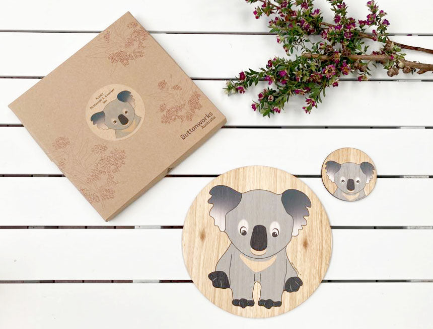 Koala Placemat & Coaster Set