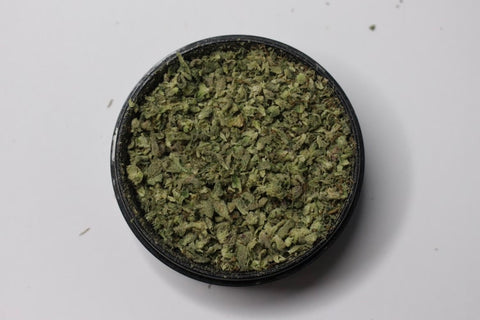 Weed finely ground in grinder