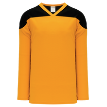 Load image into Gallery viewer, Athletic Knit H6100-213 Gold/Black Blank Jersey - Adult XL