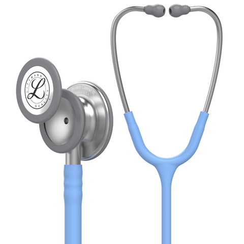 "Image of 27"" Length Ceil Blue Littmann Classic III Monitoring Stethoscope"