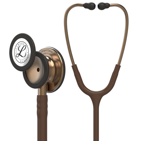 "Image of 27"" Length Chocolate & Copper Littmann Classic III Monitoring Stethoscope"