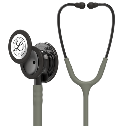 "27"" Length Dark Olive Green & Smoke Littmann Classic III Monitoring Stethoscope"