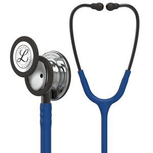 "27"" Length Navy Blue & Mirror Finish Littmann Classic III Monitoring Stethoscope"