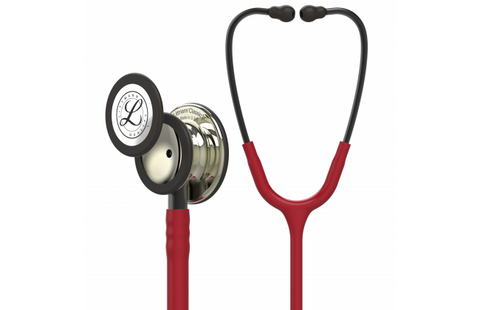 "27"" Length Burgundy & Champagne Finish Littmann Classic III Monitoring Stethoscope"