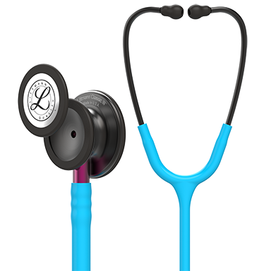 "27"" Length Smoke Chestpiece, Turquoise Tube, Pink Stem and Smoke Headset Littmann® Classic III™ Monitoring Stethoscope"