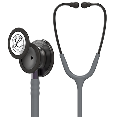 "27"" Length Smoke Chestpiece,Gray tube,Voilet Gray Stem and Smoke Headset Littmann® Classic III™ Monitoring Stethoscop"