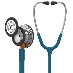 "27"" Length Mirror Chestpiece, Caribbean Blue Tube, Orange Stem and Stainless Headset Littmann® Classic III™ Monitoring Stethoscope"