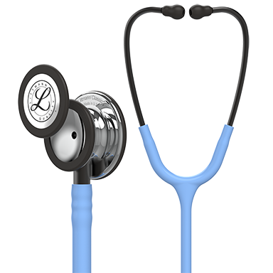 "27"" Length Ceil Blue Tube, Mirror Chestpiece, Smoke StemLittmann® Classic III™ Monitoring Stethoscope"