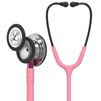 "27"" Length Pearl Pink Tube, Mirror Chestpiece, Pink Stem Littmann® Classic III™ Monitoring Stethoscope"