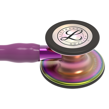 27'' Length Rainbow-Finish Chestpiece, Plum Tube, Violet Stem and Black Headset Littmann® Cardiology IV™ Diagnostic Stethoscope