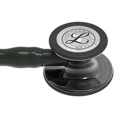 27'' Length Black Tube, High-Polish Smoke Chestpiece, Black Stem Littmann® Cardiology IV™ Diagnostic Stethoscope