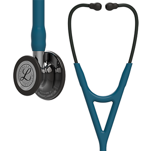 27'' Length Caribbean Blue Tube, High-Polish Smoke Chestpiece, Mirror Stem Littmann® Cardiology IV™ Diagnostic Stethoscope