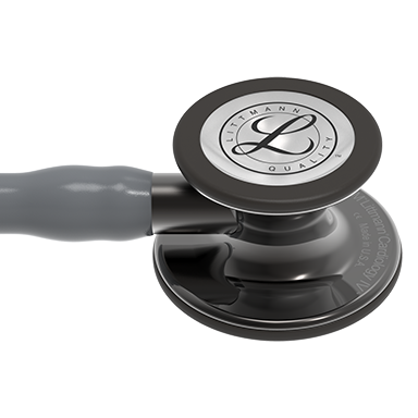 27'' Length Gray Tube, High-Polish Smoke Chestpiece, Smoke Stem Littmann® Cardiology IV™ Diagnostic Stethoscope