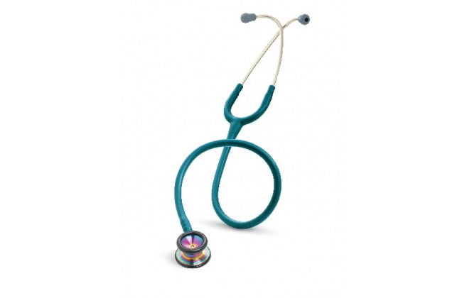 "28"" Length Caribbean Blue & Rainbow Littmann Classic II Pediatric Stethoscope"