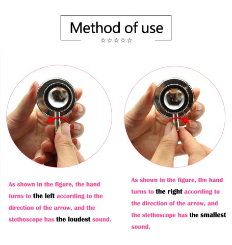 Image of Portable Dual Head Stethoscope For Doctor Nurse Medical Student Health Blood Light Weight Aluminum Chest Piece Blood Pressure