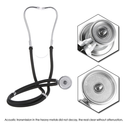 Image of Medical Estetoscopio Stethoscope Dual Headed Double Tube Professional Multifunctional Stethoscope Portable Home Use Health Care