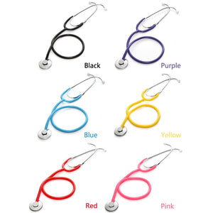 Basic Medical Stethoscope Single Head Professional Cardiology Stethoscope Doctor Student Vet Nurse Medical Equipment Device