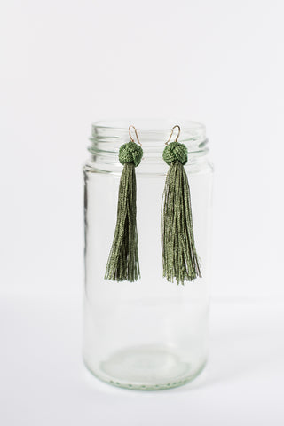 Short Tassel Earrings