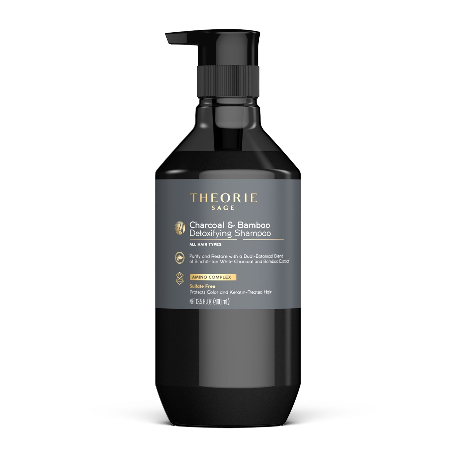 Theorie: Sage - Charcoal & Bamboo Detoxifying Shampoo