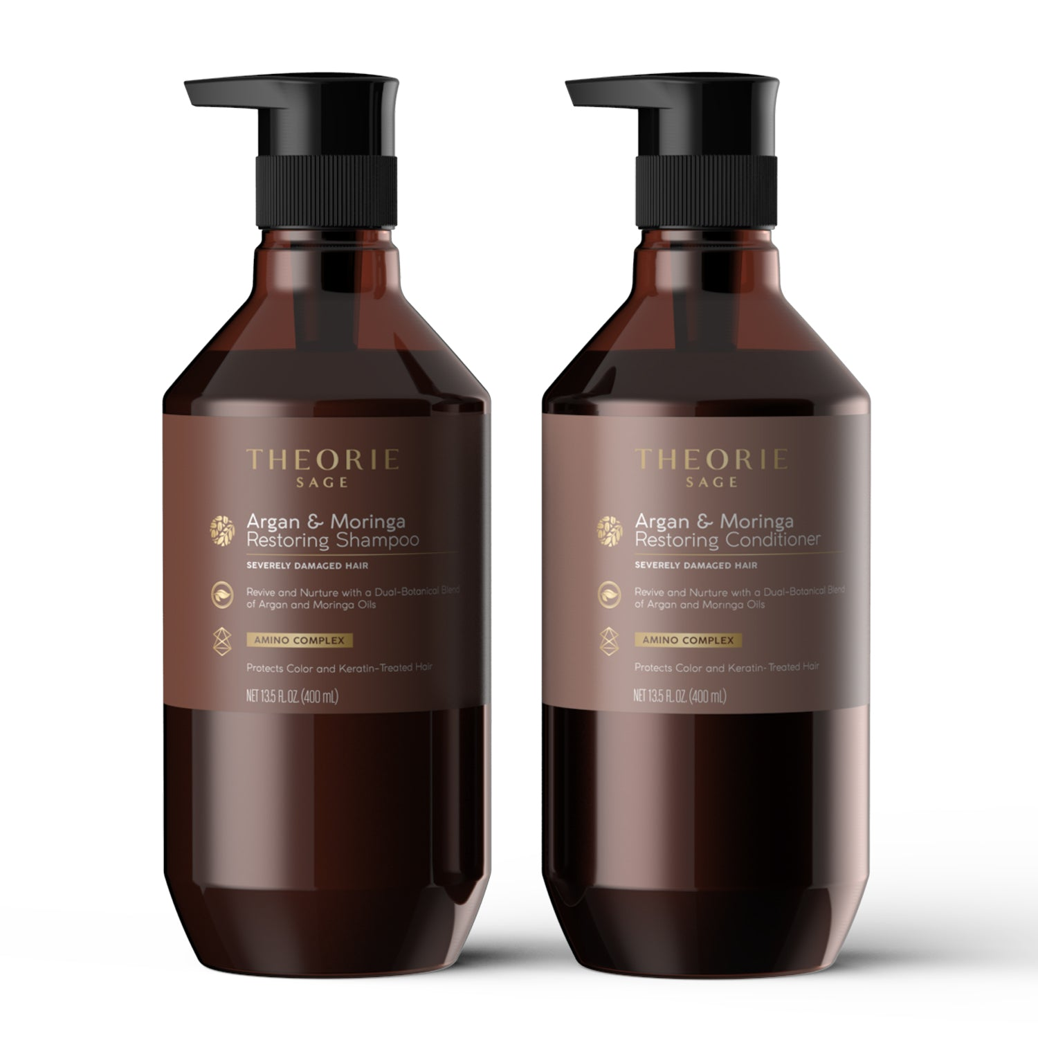 Theorie: Sage - Argan & Moringa Restoring Shampoo & Condition Set