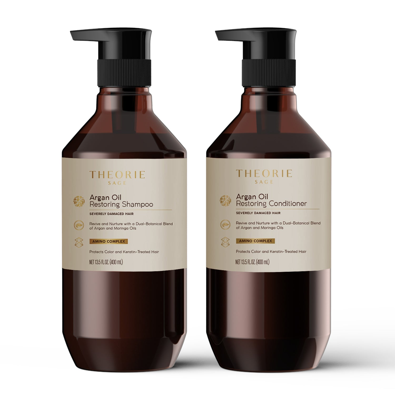 Theorie: Sage - Argan Oil Restoring Shampoo and Conditioner Set