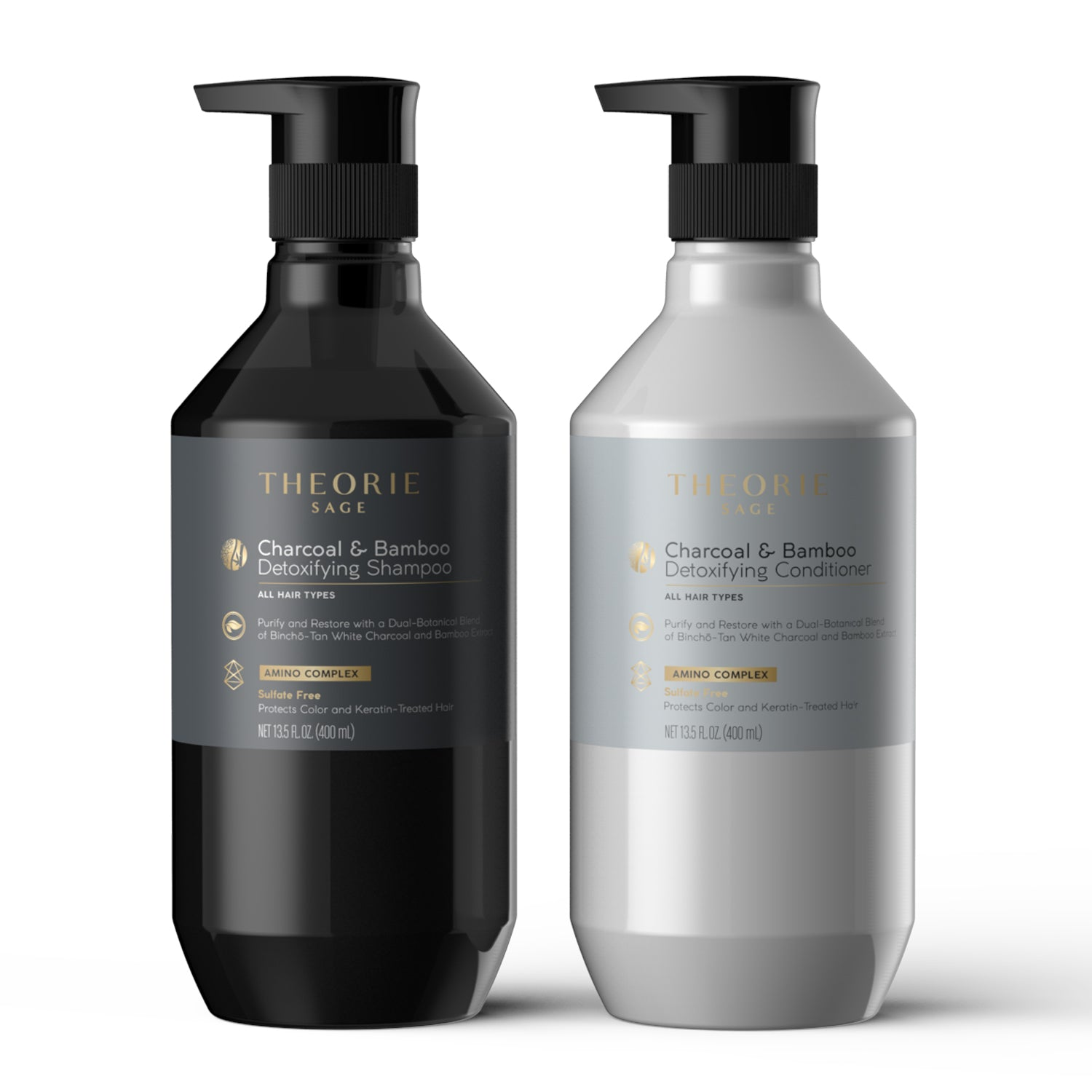 Sage - Charcoal & Bamboo Detoxifying Shampoo & Condition Set
