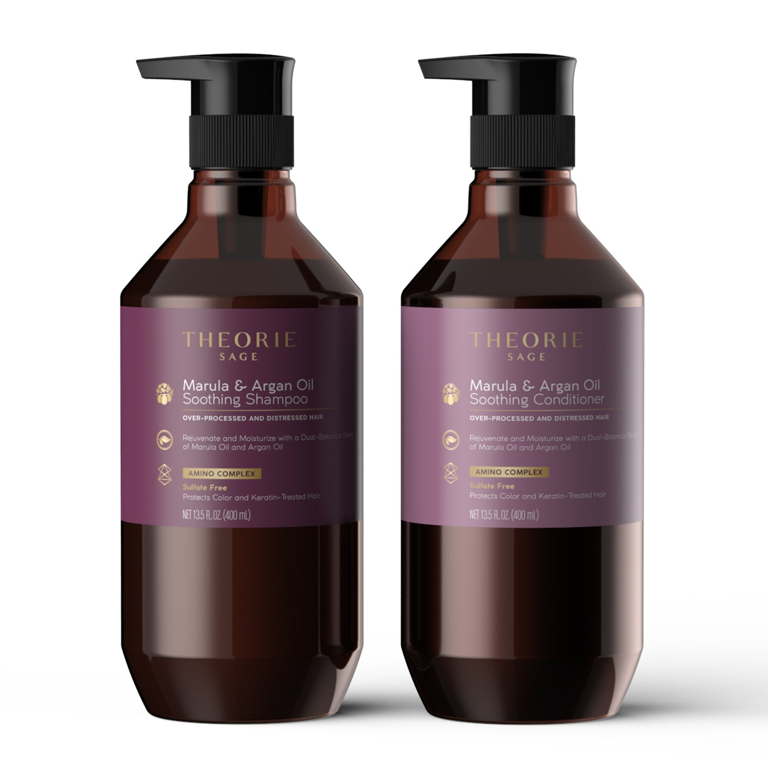 Theorie: Sage -  Marula & Argan Oil Smoothing Shampoo & Condition Set (Sulfate-free)