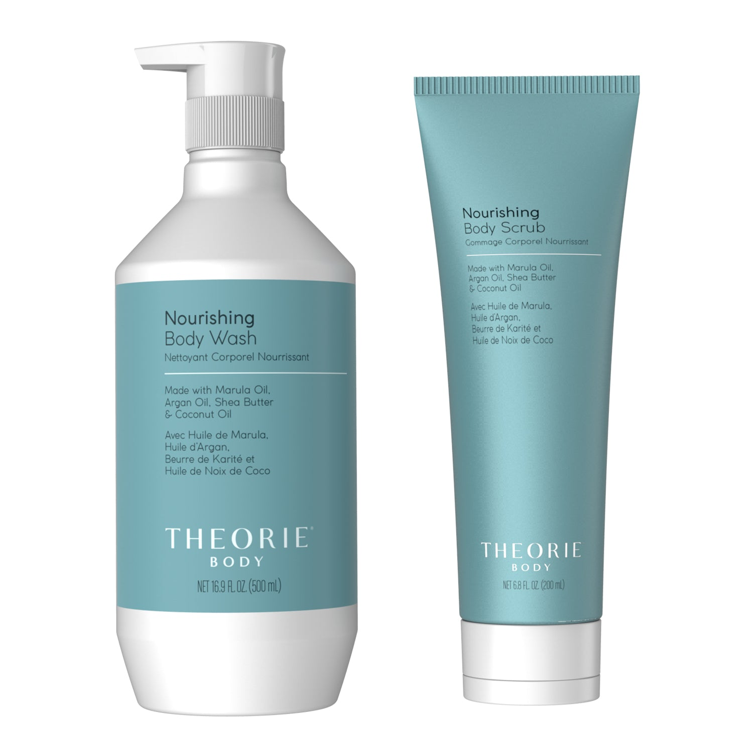 Theorie Body - Nourishing Body Scrub & Wash Set