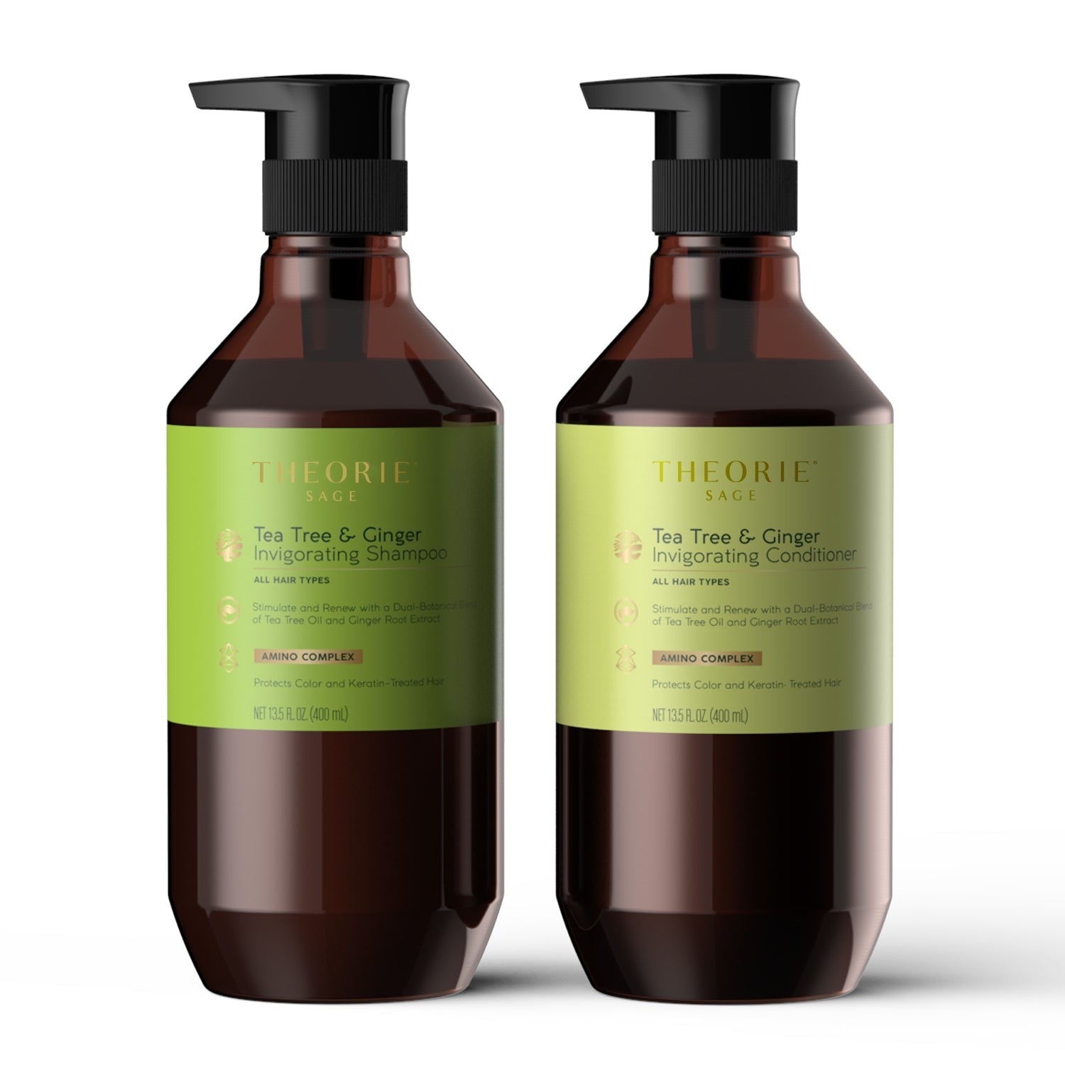 Theorie: Sage - Tea Tree & Ginger Invigorating Shampoo & Condition Set