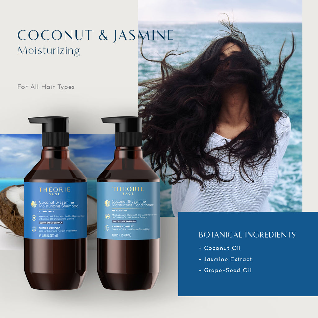 Theorie: Sage - Coconut & Jasmine Shampoo and Conditioner Set