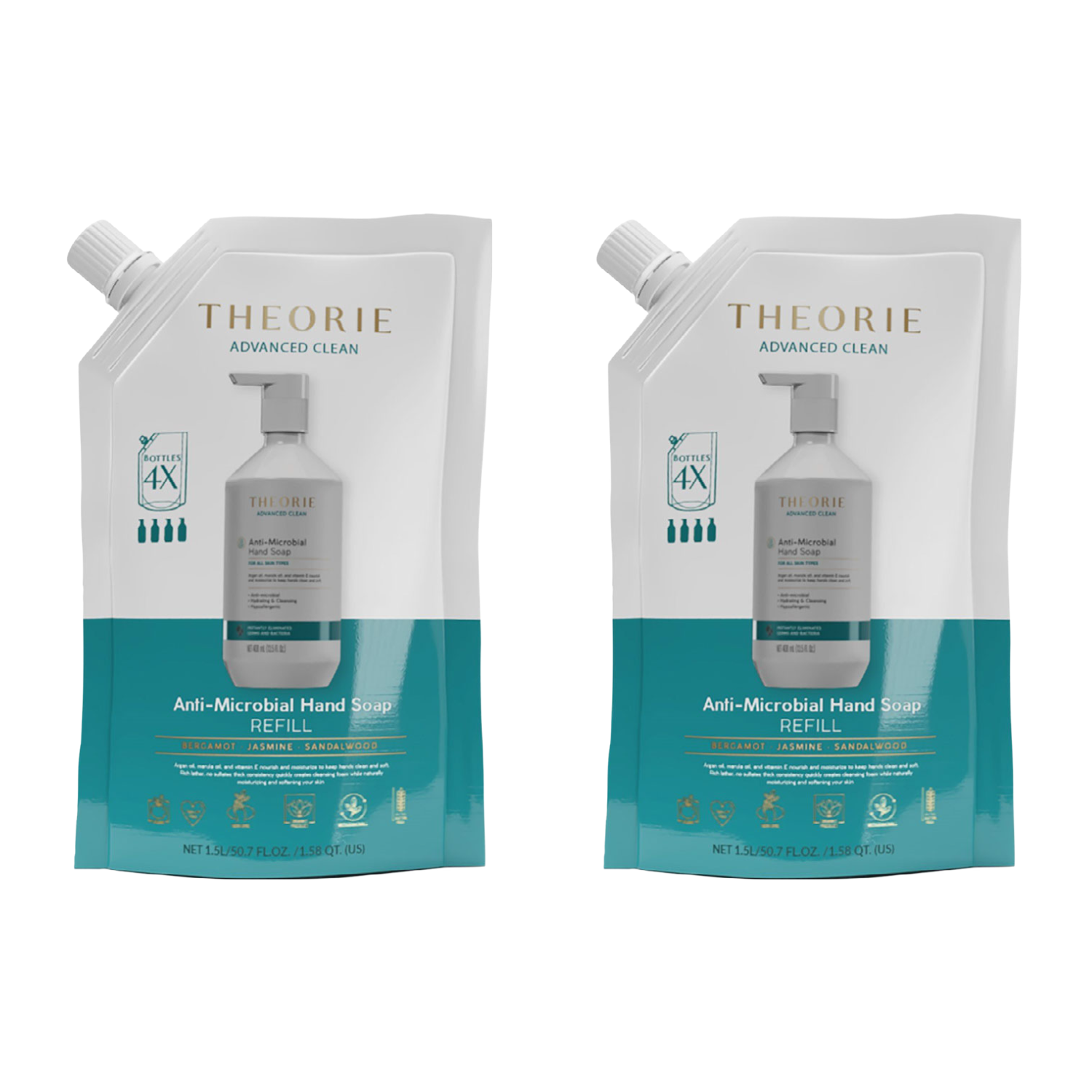 Theorie: Anti-Microbial Hand Soap (Two Pack Refill)